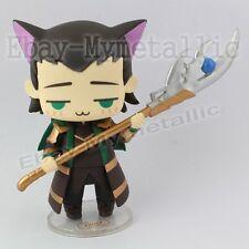 "Super Hero The Avengers Cutie Cat Cosplay LOKI 8cm / 3.2"" PVC Figure NO Box"