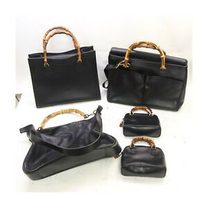Gucci Leather Hand Bag 5 pieces set 522679