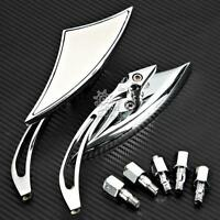 Chrome Rearview Mirrors For Yamaha V-Star XVS 250 650 950 1100 1300 XV1900