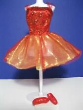 2005 Mattel Barbie Doll Ballet Star Clothes~Red Tutu Dress Point shoes Ballerina