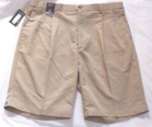 Roundtree & Yorke Size 44 Khaki Tall Man Expander Waistband New Men's Shorts