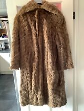"HANDMADE REAL FUR COAT 46 ""LONG 10-12?"