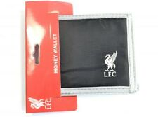 Official Liverpool Football Club Black Multi Pocket Canvas Wallet Crest Badge