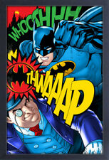 BATMAN VS PENGUIN 13x19 FRAMED GELCOAT DC COMICS BRUCE WAYNE ROBIN JOKER GOTHAM!