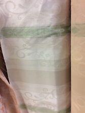 13.75m crema verde ecru DAMASCATO A RIGHE IGNIFUGO Tappezzeria Stoffa