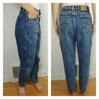 Vtg 80s Lee USA High Waist Mom Jeans 6 / 8 Medium Acid Wash Blue