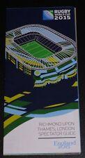 RUGBY WORLD CUP 2015 Spectator Guide to Twickenham Souvenir RWC NEW