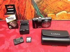 Panasonic LUMIX DMC-ZS10 16X 14.1MP Digital Black Camera -  TESTED & WORKS
