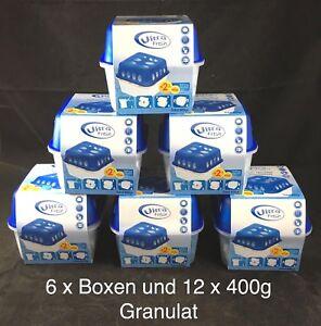 Luftentfeuchter Set 6 x Boxen mit 12x400g Granulat Raum Entfeuchter Trockner NEU