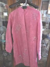Tunique Nights FAB  Top Jacket Asian inspired Tunic  Rose Pink Beaded S