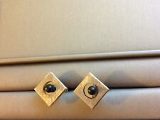 Cufflinks 14k solid White Gold With Black Pearls