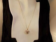 Mom Jordan, Beautiful Sterling Silver w/Gold Overlay,Crystal Heart Pendant.