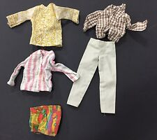 Vintage Lot Ken Doll Clothes 1124 Bendalble Leg Swim Trunks 4224 Mod Hair Jacket