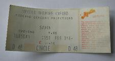 SAXON Concert Ticket Stub 1984 Apollo Theatre Oxford