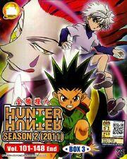 Hunter x Hunter 2011 Season 2 Box 3 Vol.100 - 148 End DVD English Sub ALL Region