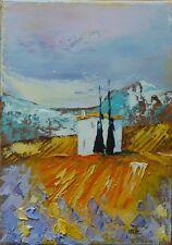 Tableau de Nolac 22x16 cm tableau huile PROVENCE paysage