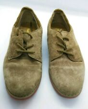 Dress Shoes Brown Tan Suede Leather Hush Puppies Boys Yth Size 12 M