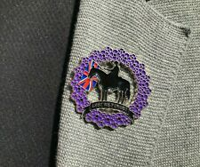 2020 Wreath Cross Horse Animal Veteran Solider Purple  Enamel Pin Lapel Badge
