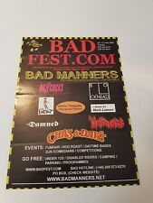 Bad Manners - Bad Fest - Buzzcocks, Damned,   Beat -  July 05 - Flyer A5