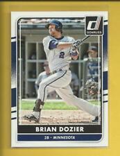 Brian Dozier 2016 Panini Donruss Card # 115 Minnesota Twins L A Dodgers Baseball