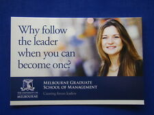 WHY FOLLOW LEADER WHEN YOU CAN BECOME ONE? UNI MELB AVANT CARD #13092 POSTCARD