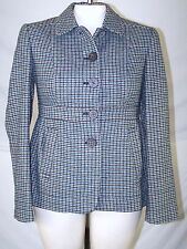 Banana Republic Teal Gray Black Long Sleeve Button Jacket Coat Womens Sz 6 Small