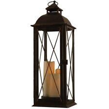 LED Lantern Indoor Outdoor Metal Porch Decoration Patio Decorative