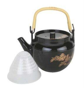 JapanBargain Japanese Plastic Melamine Teapot with Tea Strainer Made in Japan