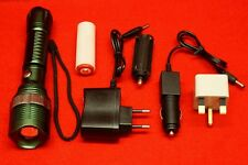 Rechargeable Zoomable CREE XM-L T6 LED 18650 AAA Flashlight Led Torch Lamp Light