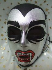 DRACULA MASK ~ FULL FACE ~ KISS ~ HORROR HALLOWEEN ~ NUOVO ~