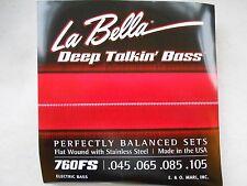 La bella 760fs profonde parlant Bass Guitar Strings-Standard 45 - 105 plaie plat