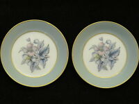 "PAIR ROYAL WORCESTER ""WOODLAND""  FLORAL BONE CHINA COLLECTORS PLATE TRINKET DISH"