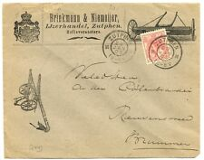 NEDERLAND 1903 COVER  ILLUSTRATED=ZUTPHEN LANDBOUW MACHINES=CV WITH TEARS!!!