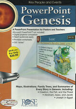 GENESIS POWERPOINT PRESENTATION by Rose Publishing - NEW CD for Windows & Mac