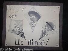 ✒ Photo dédicacée Les TRIOBEY clowns cirque 1946 !!!