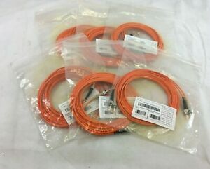 ST-ST Duplex Fibre Optic Patch Cables - CAB-OM1 5M. Lot of 6. P648