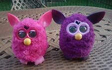 2012 Hasbro Furby purple Pink  lot of 2Talking Electronic Toy PA-282
