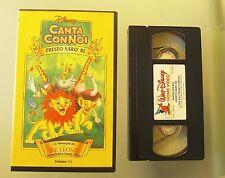 CANTA CON NOI RE LEONE PRESTO SARO' RE VHS ORIGINALE DISNEY