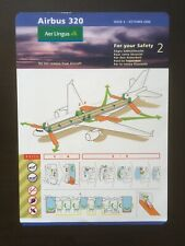 Safety Card/Aer Lingus/Airbus A320/2006