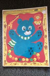 NEW 1967 FUZZY WUZZY PUZZLE VINTAGE Whitman Frame Tray