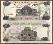 Nicaragua P149, 100,000 Cordobas, Ruben Dario People's Theater Great UV - $10CV!