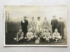 Euston Athletic FC football team group by goal 1922 real photo postcard