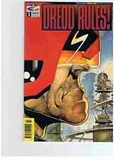 LOT DE 5 JUDGE DREDD # 64 & 65 + RULES # 5 & 7 + MEGAZINE # 1 PAPERBACK FLEETWAY