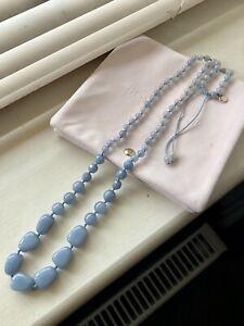 Lola Rose Pale Bluey Grey Necklace - NEW