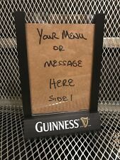 Guinness Table Top Beer Sign 2 Sided Menu Holder Wood Acrylic Free Us Shipping