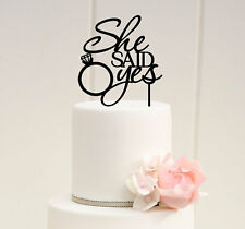 She Said Yes Cake Topper, Bridal Shower, Wedding Cake Decorations, USA