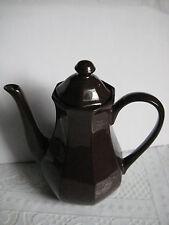 Braune Einzelkanne / Teekanne, Marke England, im Top Zustand = Théière = Teapot