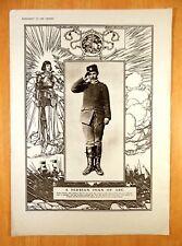 Print A SERBIAN JOAN OF ARC Sergeant Slavka Tomitch Serbian Army 1916 POILU