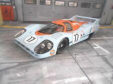 PORSCHE 917 L Langheck Gulf Le Mans 1971 #17 Siffert Bell NEU CMR Resin 1:18