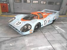 PORSCHE 917 L Lang poppa Gulf Le Mans 1971 #17 MAMMOLO BELL NUOVO CMR resin 1:18